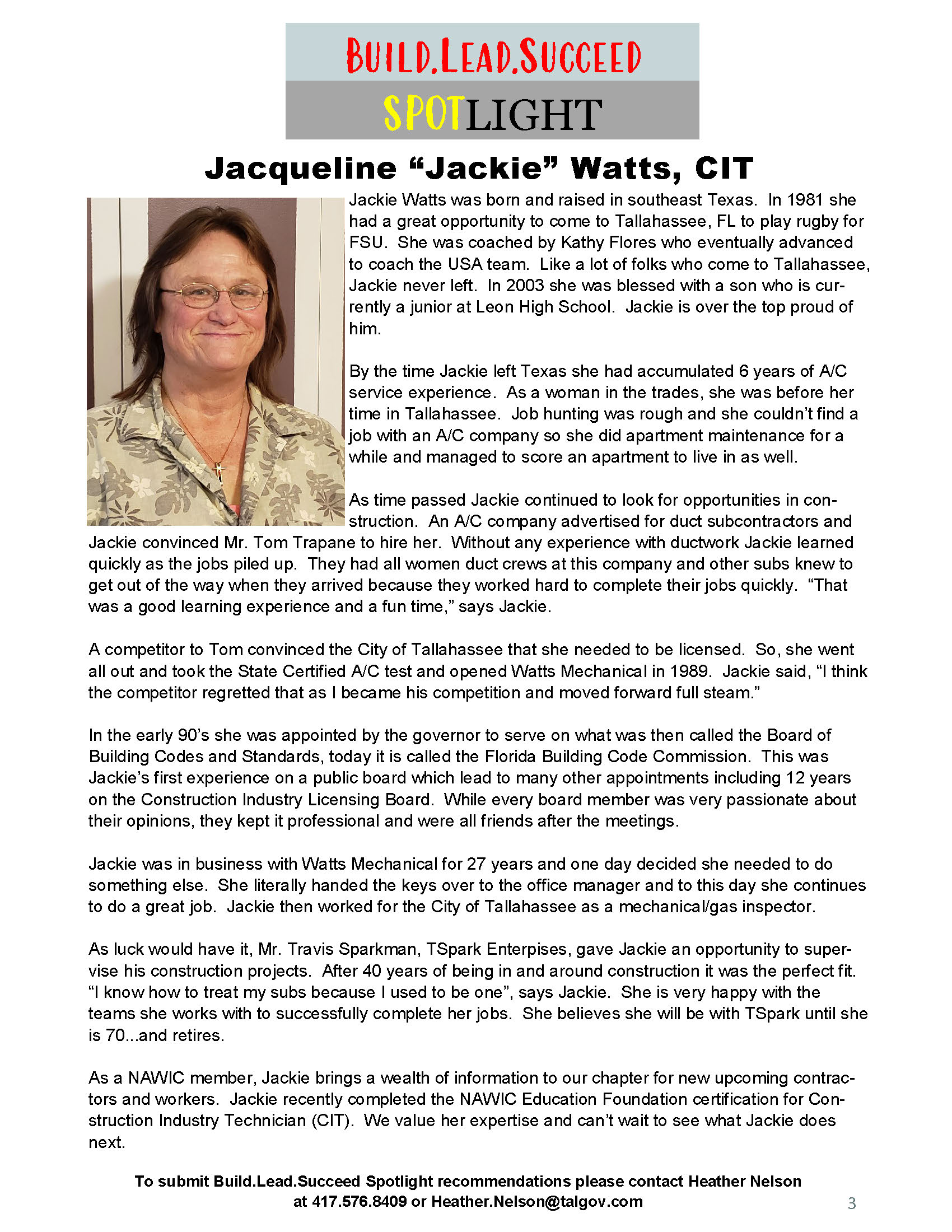 Spotlight: Jackie Watts